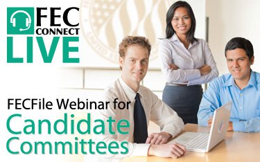 Candidate FECFile Webinar button
