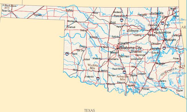 Oklahoma Us Senator Map Globalinterco - Oklahoma us senator map