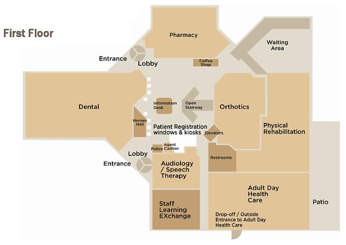 Ambulatory Care Floor Plan - First Floor