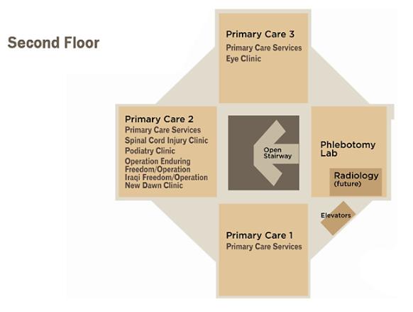 Ambulatory Care Floor Plan - Second Floor