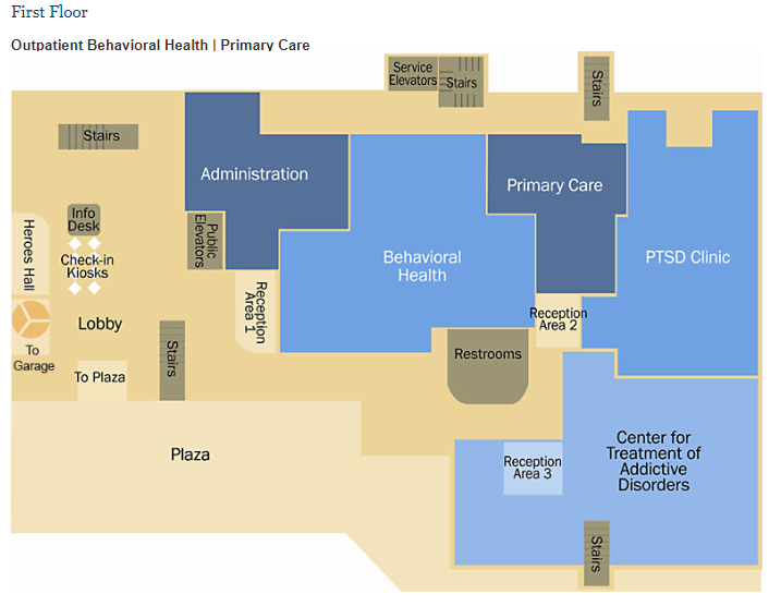 University Drive Facility First Floor Map