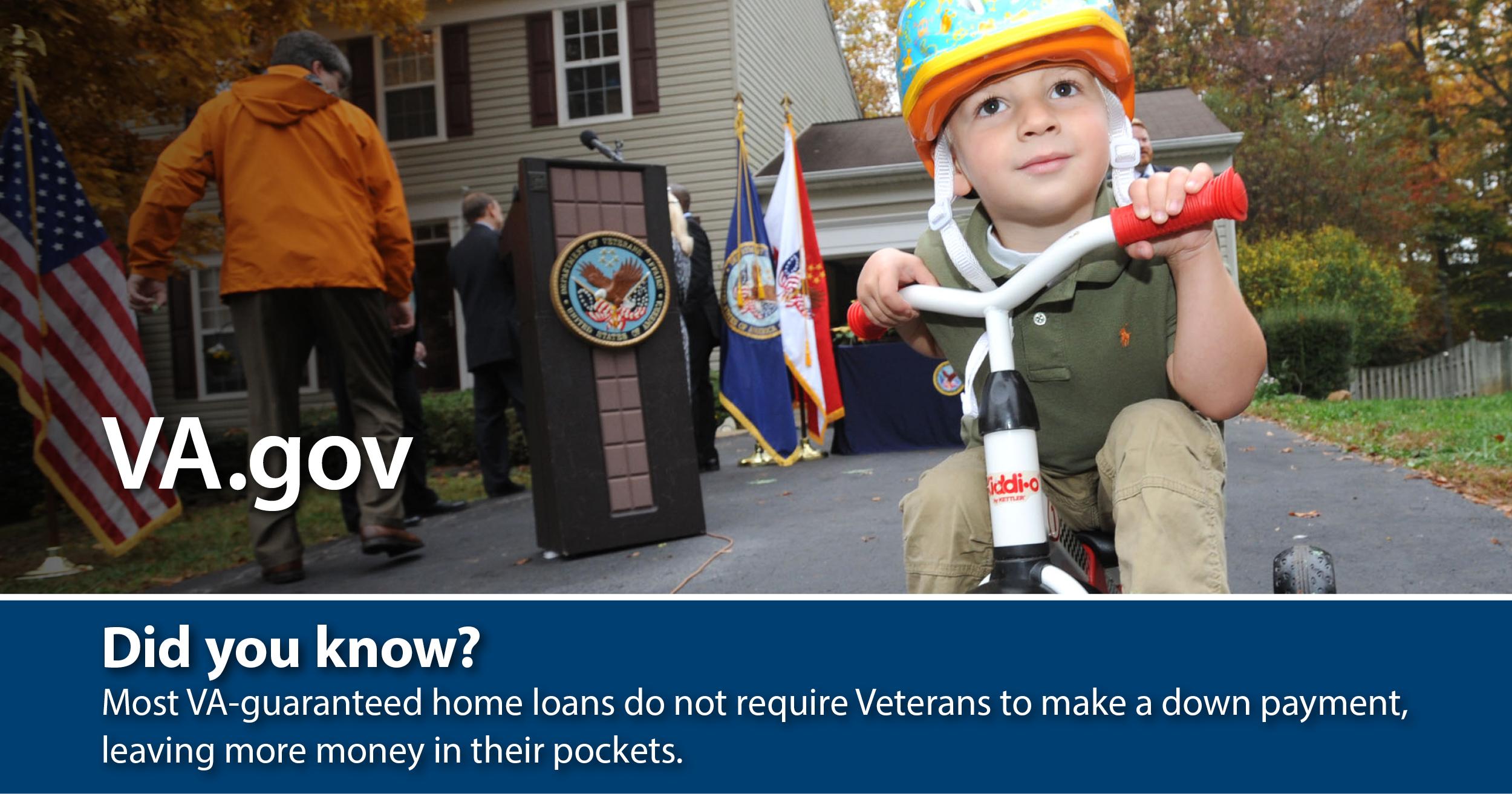 VA offers Veterans home loans