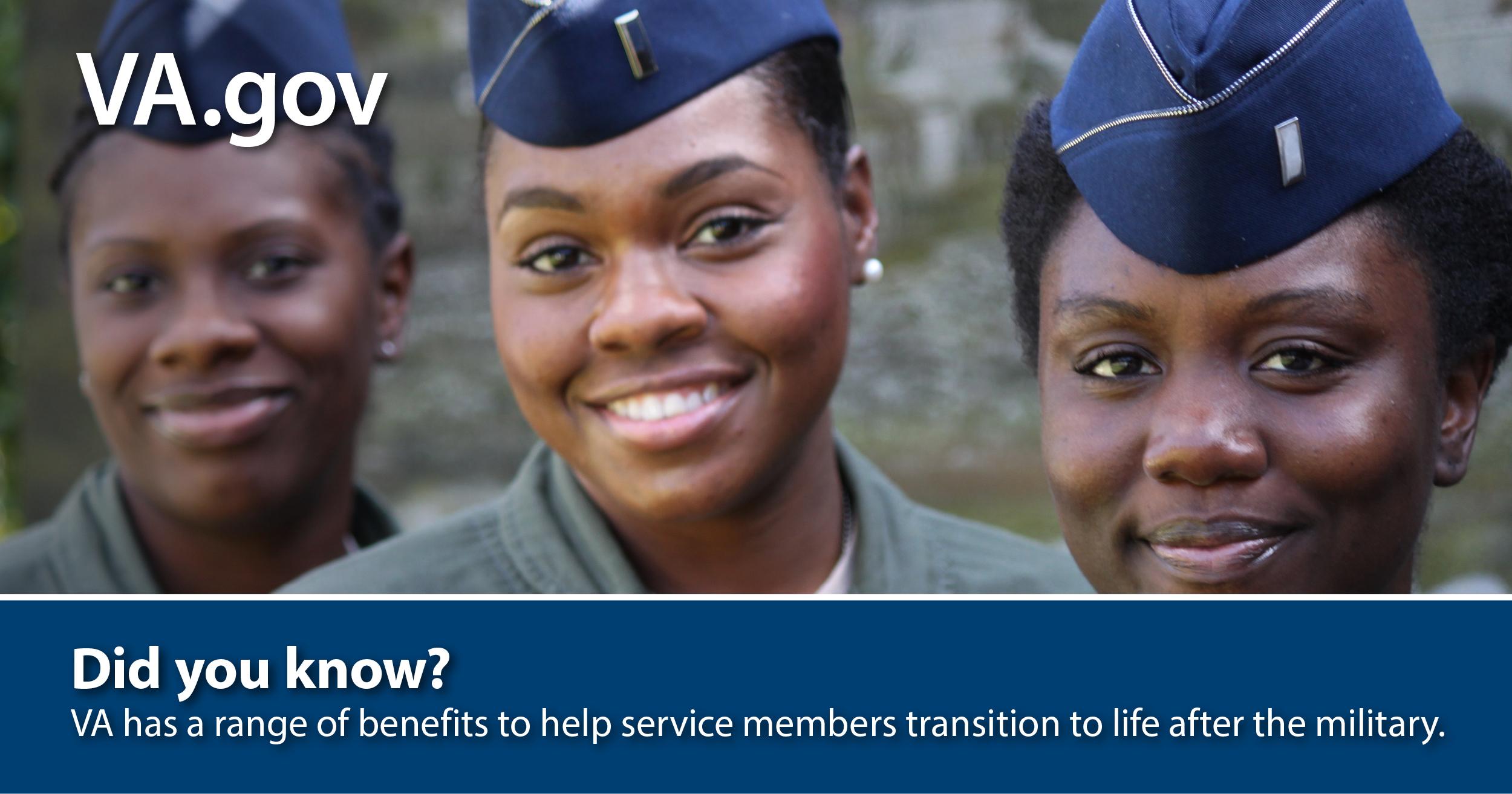 VA benefits help with post-military life