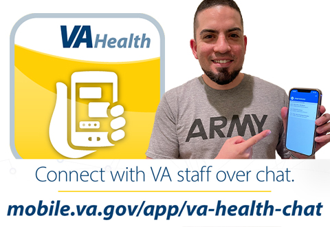 Veteran Gets Medical Advice with VA Health Chat