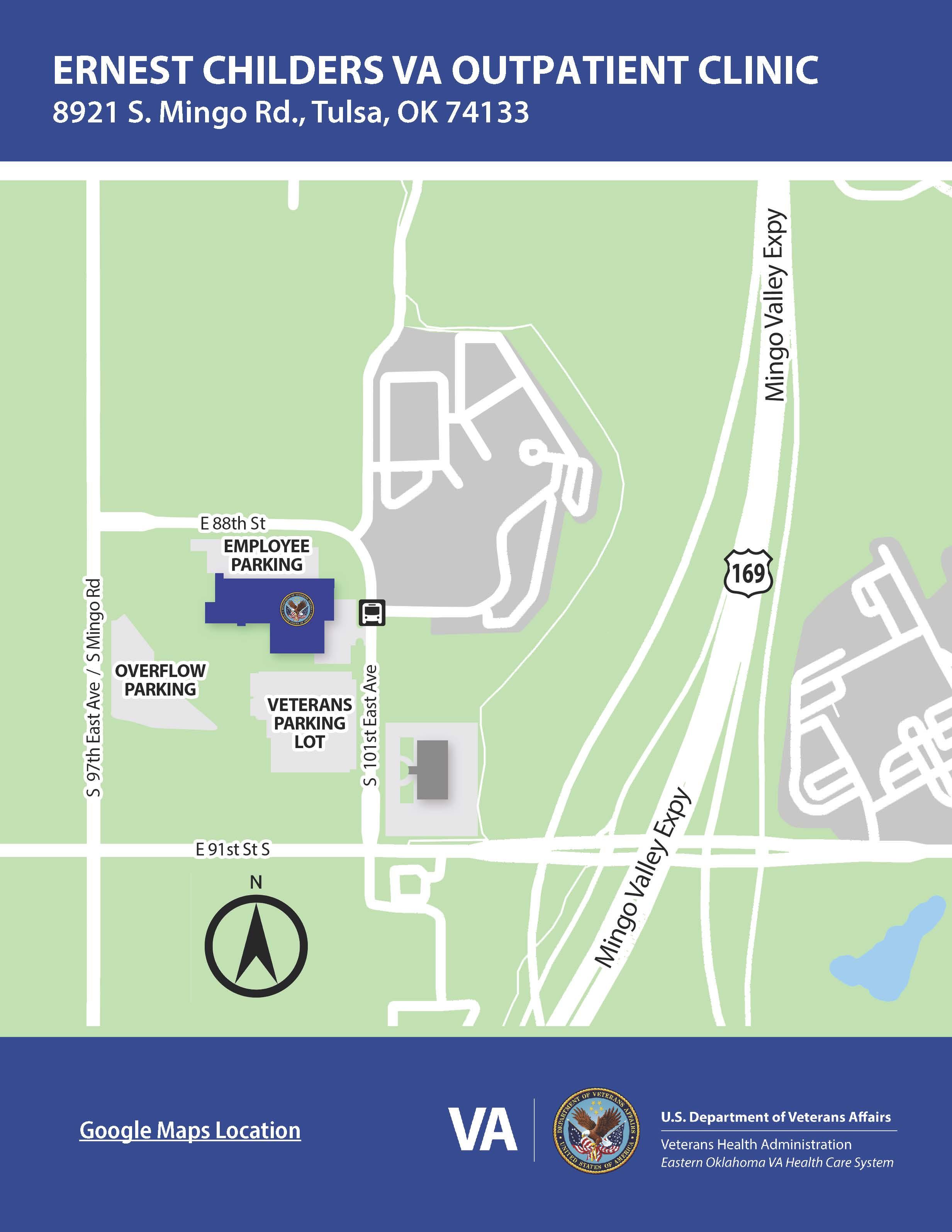 Ernest Childers VA Outpatient Clinic parking map