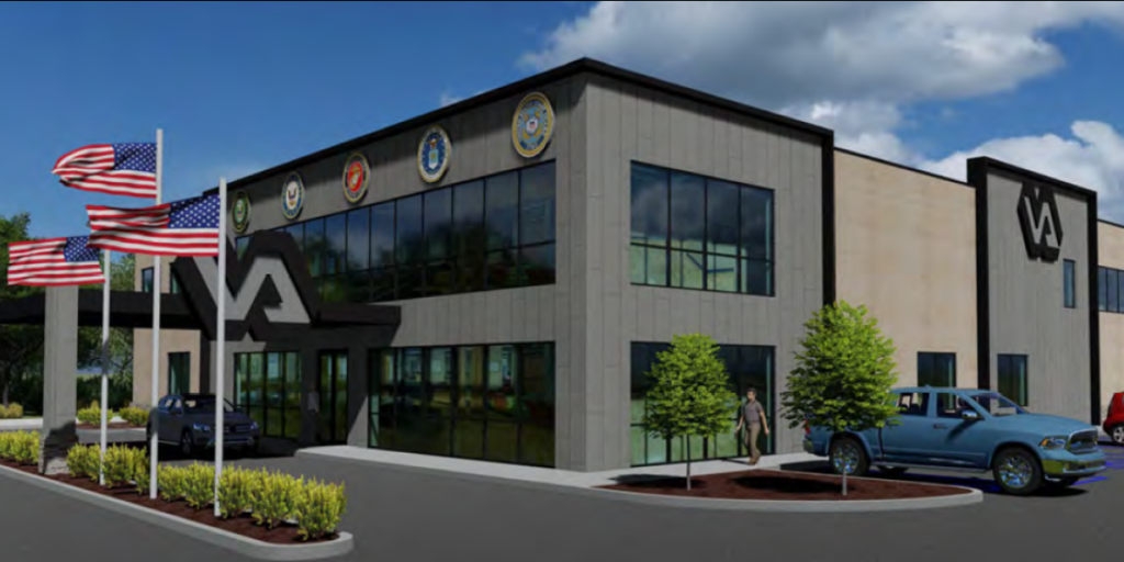 Artist rendering of new Atlantic County Veterans Affairs Community Based Outpatient Clinic in Northfield, NJ.