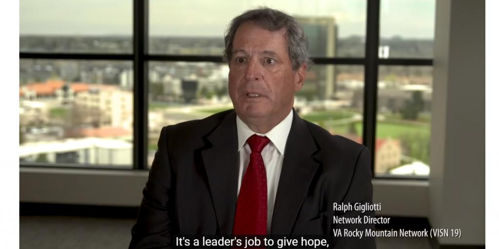 Screen grab from Learning from the past video - Ralph T. Gigliotti, VISN 19 network director