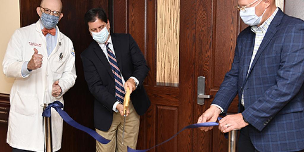 Members of the Ralph H. Johnson VA Health Care System officially cut a ribbon to mark the grand opening of Liberty Hall.