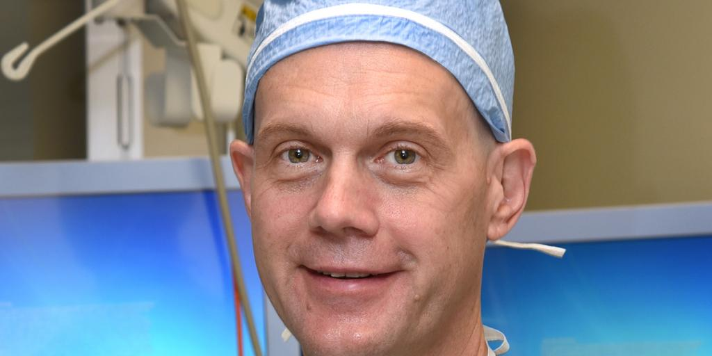 Dr. Chris Tuohy, associate professor of Orthopedic Surgery at Atrium/Wake Forest, prepares to do the first reverse total shoulder replacement in Salisbury VA's history. The procedure helps those with rotator cuff tears get back to a normal life.