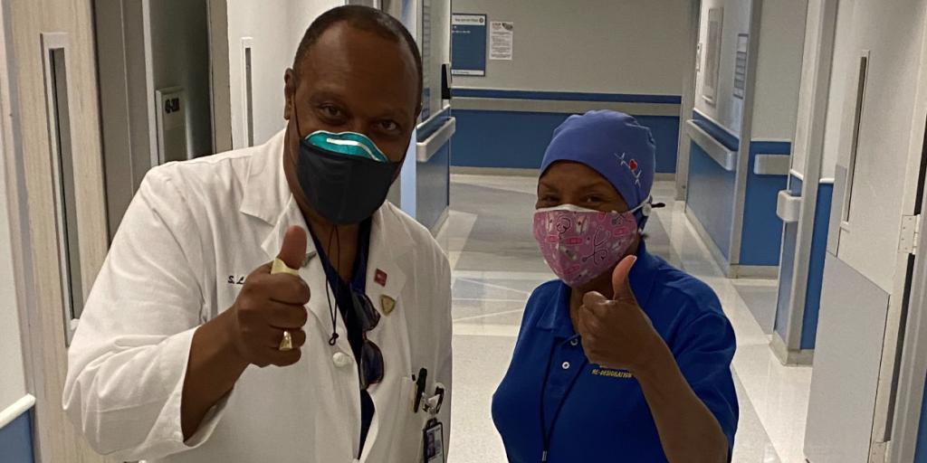 Nurses Sherman Free and Lottie Lockett