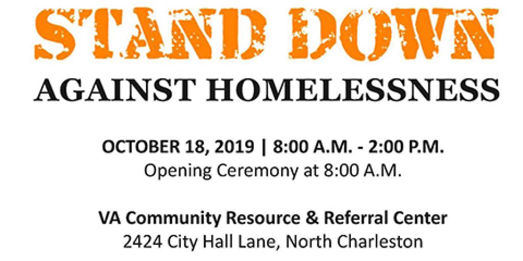 The Ralph H. Johnson VAMC, along with Palmetto Goodwill and Palmetto Warrior Connection, will host the 20th Annual Stand Down Against Veteran Homelessness Friday, Oct. 18 from 8:00 a.m. until 2:00 p.m.