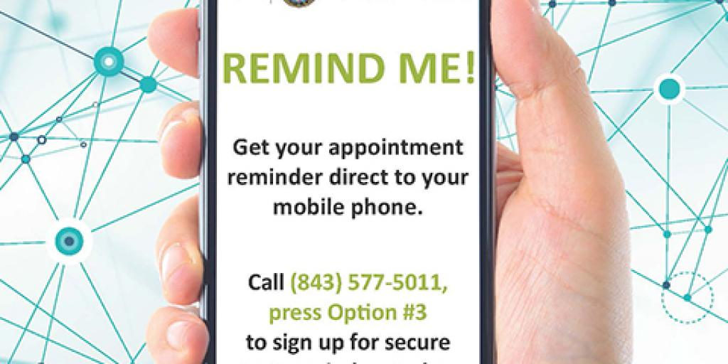 Text messages are a new, convenient way to get appointment reminders at the Ralph H. Johnson VA Medical Center