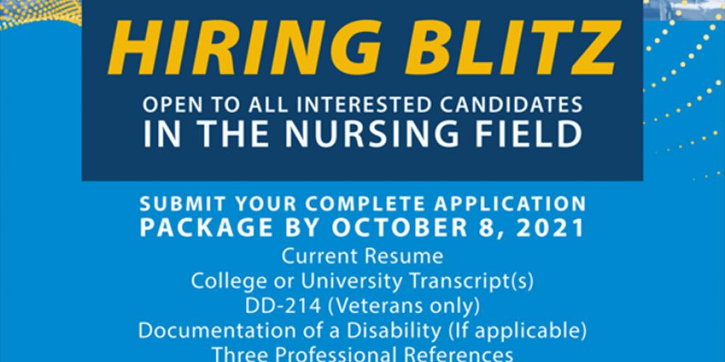 Hiring Blitz for Nursing