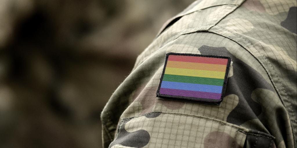 pride flag on uniform