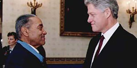 Vernon Baker and President Bill Clinton