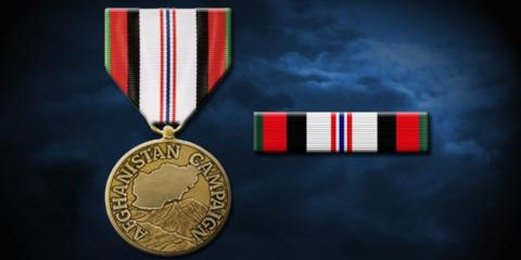 Afghanistan Campaign medal and ribbon