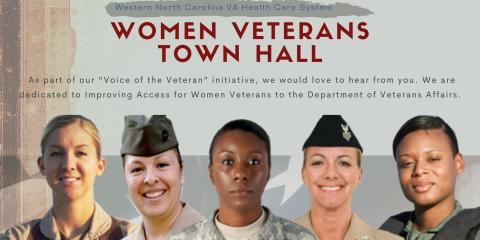 Women Veterans Town Hall to be hosted virtually by the Western North Carolina VA Health Care System Sept. 29 at 5 p.m.