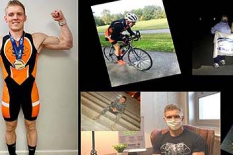 Stephen Glaus, Army Operation Iraqi Freedom Veteran, was able to complete an Ironman with the mentorship of a chiropractor, Kevin Long at Lebanon VA Medical Center.