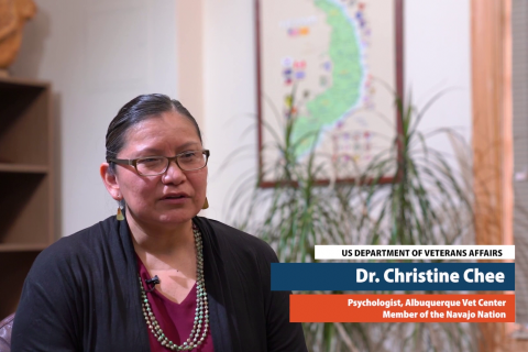Dr. Christine Chee, psychologist at the Albuquerque Veteran Center and a member of the Navajo Nation