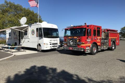 Tacoma Vet Center Mobile Vet Center with Seattle Fire Truck