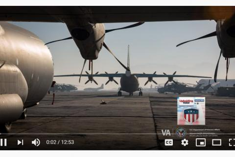 Military planes on a runway