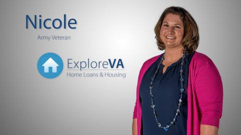 Nicole bought a home with a VA loan
