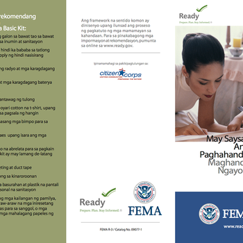 Cover Image for Emergency Preparedness Materials in Tagalog (Families, Pets, Seniors, Disabled, Businesses) album