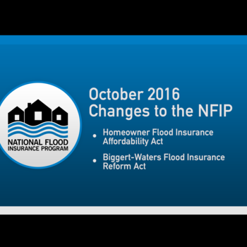 Cover image for October 2016 National Flood Insurance Program Changes Collection