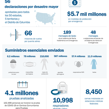 Cover image for COVID-19 By the Numbers (Spanish)  Collection