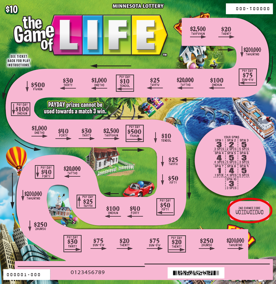 1850 The Gameof Life Ticket Full Uncovered