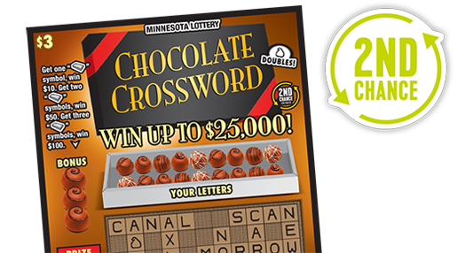 Chocolate Crossword 2nd Chance - Minnesota Lottery