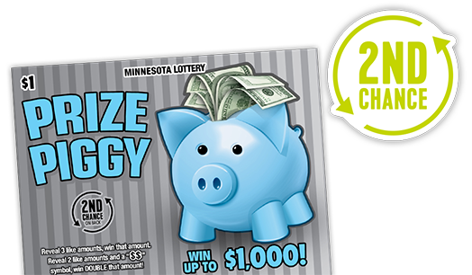 2nd Chance Prize Piggy - Minnesota Lottery