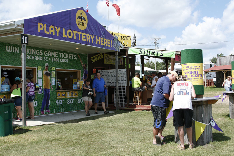 Minnesota Lottery ticket booth at We Fest