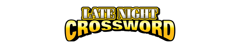 $5.00 -  LATE NIGHT CROSSWORD (1812)