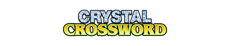 $3.00 -  CRYSTAL CROSSWORD (762)