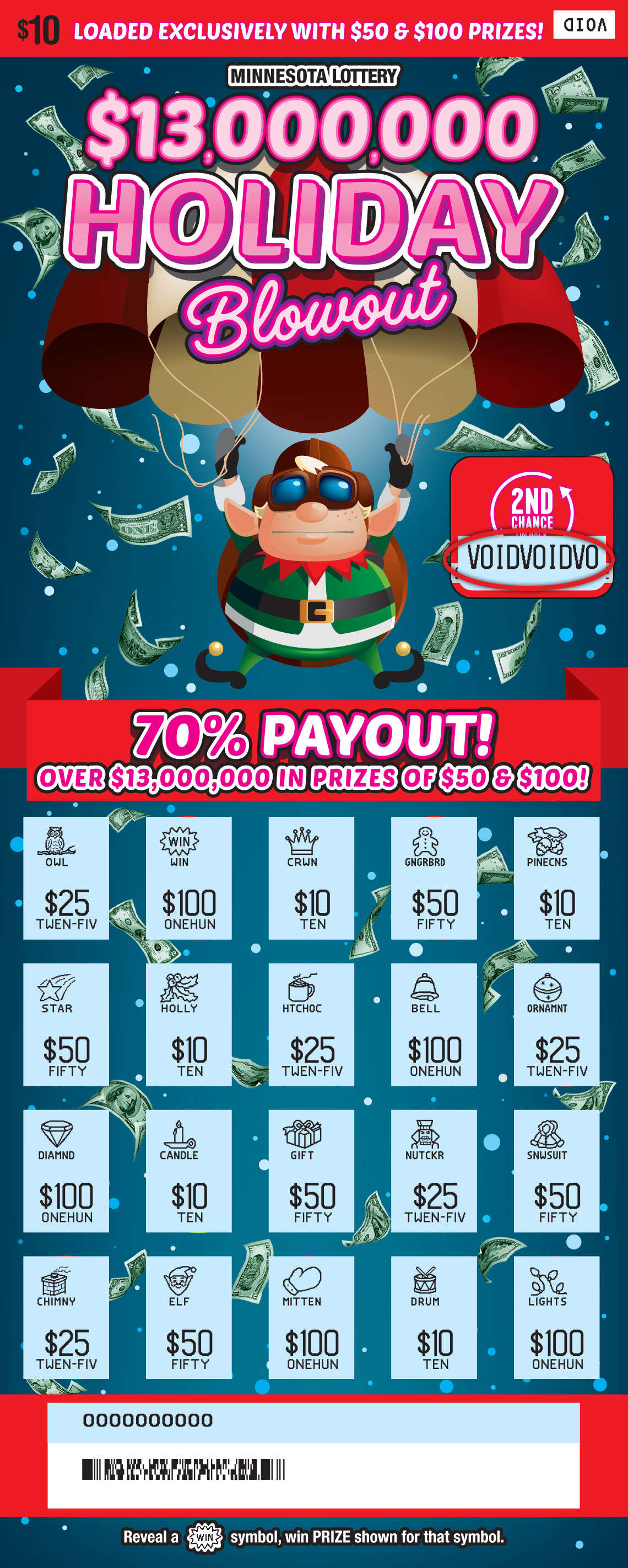 Holiday Blowout Val MN Lottery 1