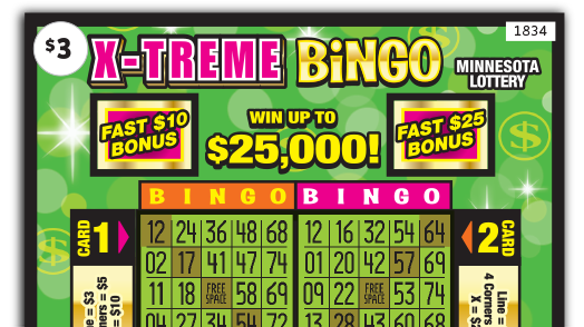 1834 X Treme Crossword Ticket Main