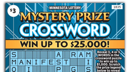 1835 Mystery Prize Crossword Ticket Main