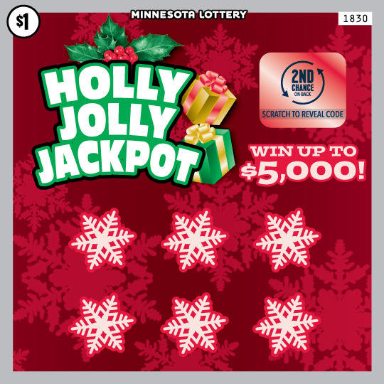 1830 Holly Jolly Jackpot 540 MN Lottery