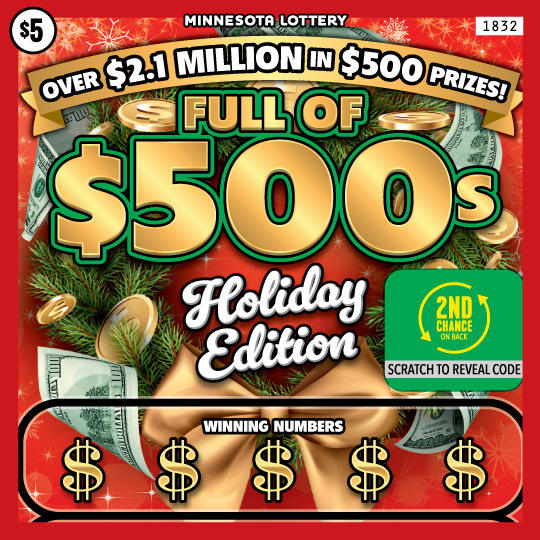 1832 Full 500 Holiday 540 MN Lottery