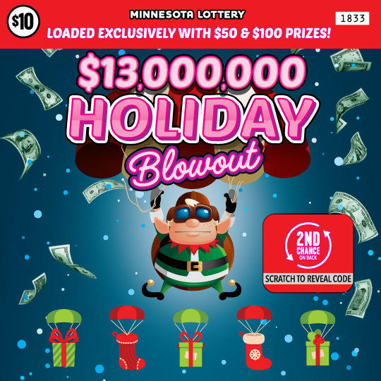 1833 13k Holiday Blowout 540 MN Lottery